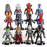 Los Vengadores De Marvel, Iron Man Y Deadpool, Veneno De Hombre, Araña, Thor, Hulk, Thanos, Ant Man,...