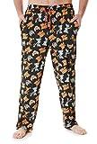 Tom and Jerry Pantalon Pijama Hombre, Pijama Hombre Invierno 100% Algodon, Merchandising Oficial Regalos Originales para Hombre y Adolescentes Talla M-2XL (Negro, XXL)