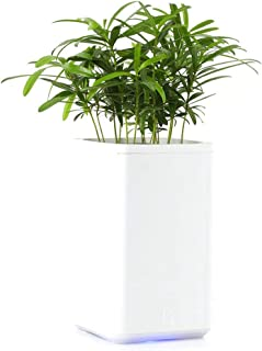 OOOUSE WiFi Self Watering Planter Pots, Smart Plant Watering System Built-in 1000ml Water Tank, Automatic Watering, Timing for Indoor Home Office African Violets Plants Flowers Herbs 12x12x21cm