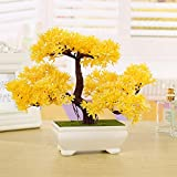 Zunbo Planta artificial Bonsai de pino artificial para...