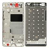 WONGYAN Repuesto Reemplazo de Piezas de reparación Carcasa Frontal LCD Marco Bisel Placa para Huawei P8 Lite (Color : Oro)