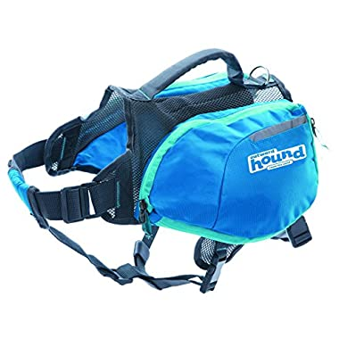 Daypak Dog Backpack Hiking Gear For Dogs by Outward Hound, Large, Blue