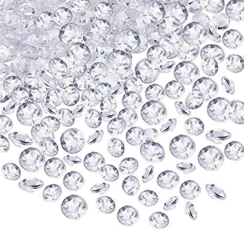 10000 Stück Acryl Diamanten, glitzernde Mikro-Strasssteine, Hochzeit Tisch Streudeko Kristalle Acryl Diamanten Strass für Hochzeit, DIY Kunst & Handwerk, klar (4,5 mm) (Transparent)