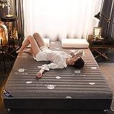 HBFG Futon Tatami Mat espesar látex natural espuma viscoelástica colchón colchón plegable transpirable y cómodo, tamaño completo