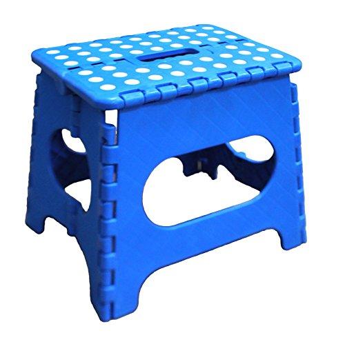Jeronic 1 11quot Folding Step Stool Blue