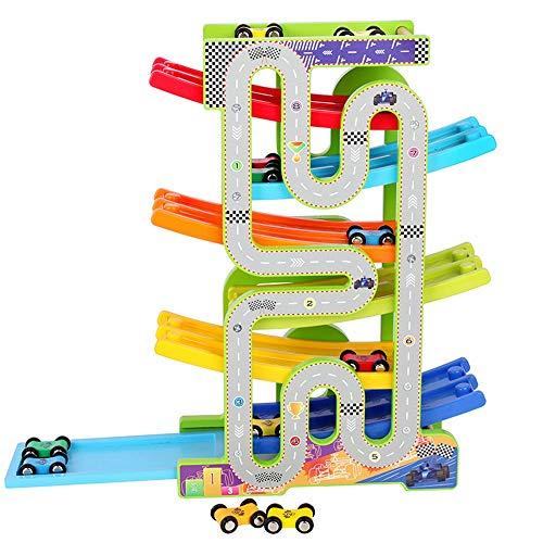 Juguete Interactivo Mini coches de estacionamiento-pista de carreras de coches Niños Rampa Corredor del niño de los juguetes de carreras Estudiantes Actividad Cubo Entre Padres e Hijos Juego Interacti