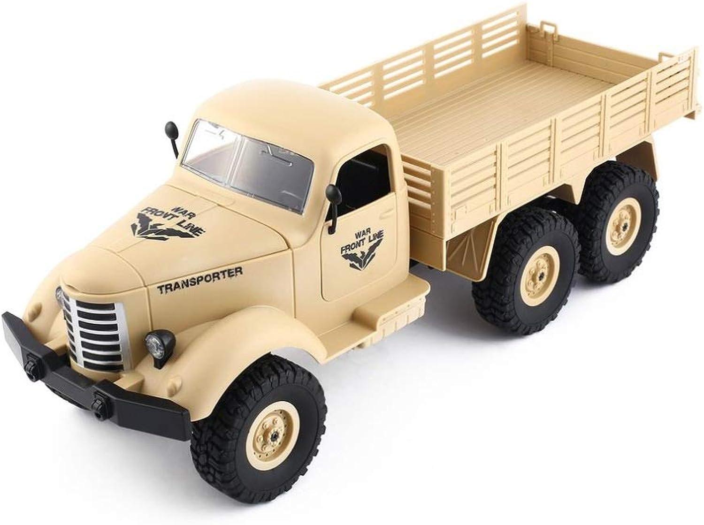Hay más marcas de productos de alta calidad. Wapipey Q60 Cochega de un camión Militar tripulado tripulado tripulado 1 16 2.4G 6WD RC Vehículo de Control Remoto de vehículos Militares para Camiones Todoterreno RC para vehículos de Regalo para Niños de Juguete  calidad auténtica