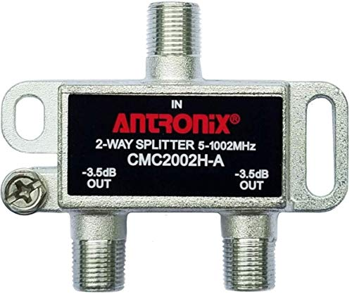 Antronix CMC2002H-A 2-Way Horizontal Splitter -3.5dB 5-1002 MHz High Performance for Coax Cable TV & Internet