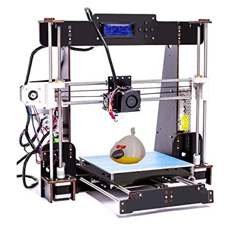 Kit de Impresora 3D DIY, versión actualizada Prusa I3, impresoras 3D de Escritorio, Filamento de impresora ABS/PLA de 1.75 mm gratis,Tamaño de construcción