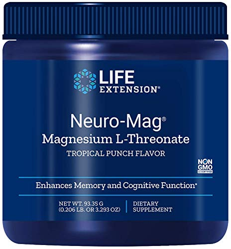 Life Extension, Neuro-Mag, Magnesium L-Threonate, Tropical Punch Geschmack, 93,35 g