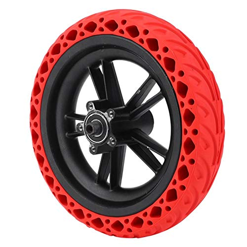 KUIDAMOS Accesorios para neumáticos Neumático de Goma sin tubérculo de 8,5 Pulgadas, para XI, aomi M365(Red)