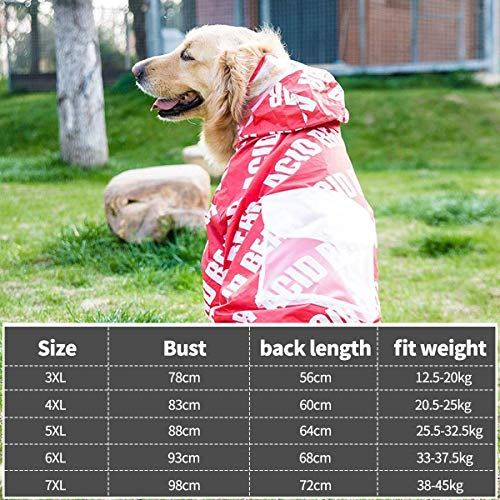 PETCUTE Impermeable para Perros Impermeable con Capucha ...
