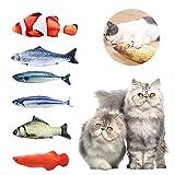 ASANMU Juguete Hierba Gatera, 6pcs Juguete para Gato 20 cm Juguetes del Catnip, Juguete Gato Pez Simulación Peluches Pescado Juguetes Interactivos para Gatos Pescados del Juguete Interactiva Mascota