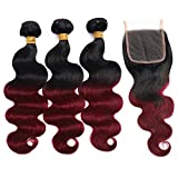Best Brazilian Virgin Hairs - Ombre Brazilian Hair Body Wave Bundles with Closure,Ombre Review