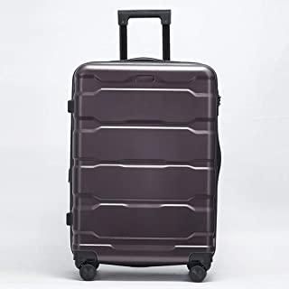IhDFR Luggage 20 inch Zipper Trolley case Mute Hard Shell Durable Expandable Large Capacity Universal Wheel Scratch-Resistant Travel 24 inch (Color : Purple, Size : 24 inches)