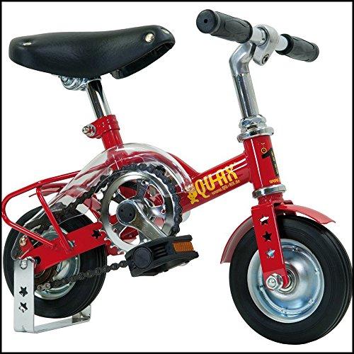 QU-AX mini bicicleta 15.24 cm solo 15 cm de papel rojo para