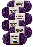 Bernat Blanket Brights Yarn-6/Pk-Pow, 6/Pk, Pow Purple 6 Pack