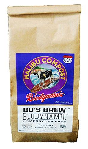 Malibu Compost HGC715978 Biodynamic Compost 12 (1ea= 4/Pack) Hydroponic Tea Bag, 1 lb
