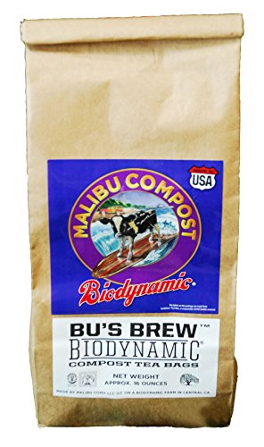 Malibu Compost 100507246 Biodynamic Compost 12 (1ea= 4/Pack) Hydroponic Tea Bag, 1 lb