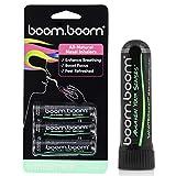 BoomBoom Inhalador nasal de aromaterapia (aumenta el enfoque y mejora la respiración) proporciona una sensación fresca y refrescante con aceites esenciales y mentol Paquete...