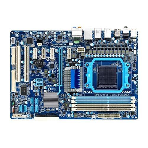 Placa Base Fit For Gigabyte GA-MA770T-UD3P Tablero De Escritorio MA770T-UD3P 770 Socket AM3 + DDR3 (M5A78-M Le LX)