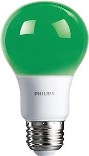Philips LED 463224 60 Watt Equivalent Green A19 LED Light Bulb, 6 Pack, Piece
