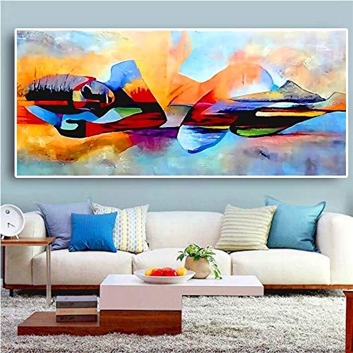 Abstrakte weibliche Kunst ölgemälde leinwand wandkunst Bild Dekoration Wohnzimmer Dekoration Geschenk rahmenlose malerei 40X80 cm