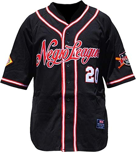 Cultural Exchange Big Boy NLBM Replica Mens Baseball Jersey [Black - 2XL]