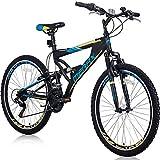 Merax Mountain Bike, Front Suspension, 24-Speed, 26-inch Wheel with...