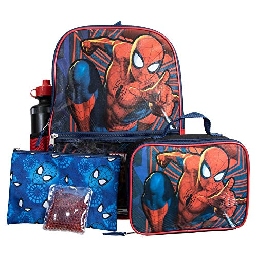 Spiderman Comic Book Superhero 5-Piece Backpack Set