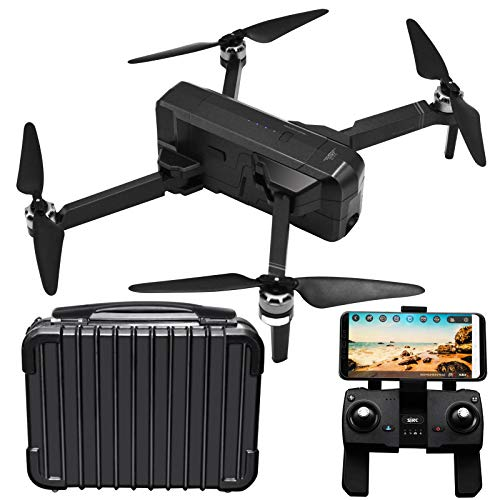 Blomiky GPS SJRC F11 Foldable Brushless Motor RC Quadcopter Drone with 1080P 5GHz WiFi FPV Camera and Carry Case F11 Black