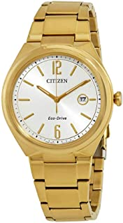 Chandler Silver Dial Yellow Gold-Plated Mens Watch AW1372-81A