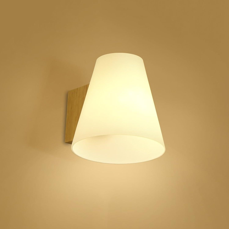RFJJ Wandleuchte Schlafzimmer Headboard-Wand beleuchtet Gang-Innenbeleuchtungs-einfache Moderne hlzerne Wandleuchten