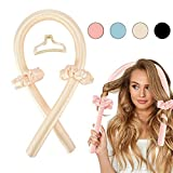 Tik Tok Heatless Hair Curlers for Long Hair,Heatless Curling Rod Headband,No Heat Curlers You Can to Sleep in Overnight,Heatless Curls Headband,Soft Foam Hair Rollers for Natural Hair(Yellow)