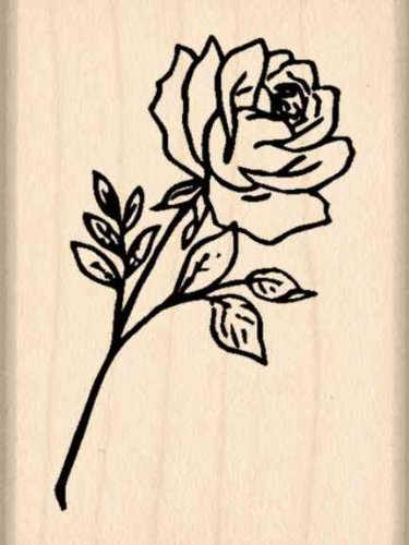 Stamps by Impression Rose Rubber Stamp