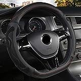UGGHGHK Cubrevolante de cuero en forma de D, para las cuatro estaciones del año, buje de volante, para Volkswagen Golf 7, 8, Polo, JATTA
