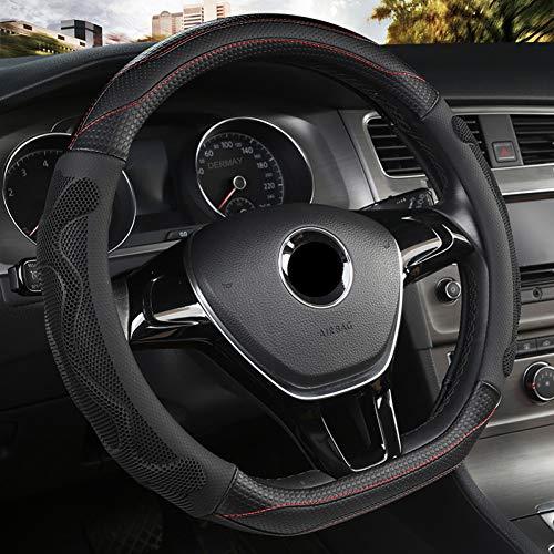 UGGHGHK D-Form Lederlenkradabdeckung Vier Jahreszeiten Lenkradnaben für VW Golf 7 8 Polo JATTA Innenzubehör