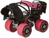 SK Sports Cosco Tenacity Super Roller Skates with Adjustable Size Rubber Wheel (Black and Maroon)
