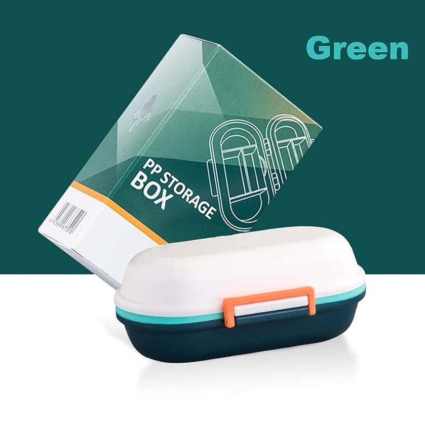伝導率ブラウン粒子ポータブル小さな薬箱、薬箱、防湿シールタブレット、薬箱、取り外し可能、経口液体ボトルを充填することができます