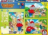 Schmidt Spiele- Benjamin-Puzzle per Bambini Fiori dello Zoo, 3 x 24 Pezzi, 56400