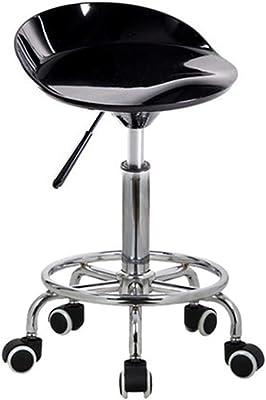 Zinc Kitchen Bar Stool Swivel Cushion Height Adjusting Lever Rolling Wheel Black
