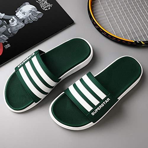 YYFF Zapatos Unisex Adulto,Coppie,Freddo,Casual,Tempo Libero-Green_44-45,para Hombre Chanclas Slider