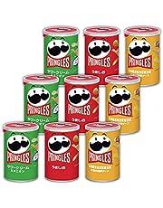 【Amazon.co.jp限定】 ケロッグ プリングルズ S缶 3種アソートセット (サワークリーム&オニオン3本、うましお3本、CHEEEEEESE 3本) 【セット買い】