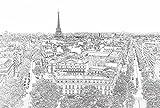 Papier Peint déco poster PARIS ETERNEL 3 x 2,70 m  | Déco et photo murale XXL Qualité HD Scenolia