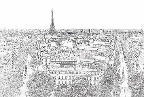 Fotobehang posterdecoratie PARIS ETERNEL 3x2,70 m decoratie en afbeelding XXL kwaliteit HD Scenolia