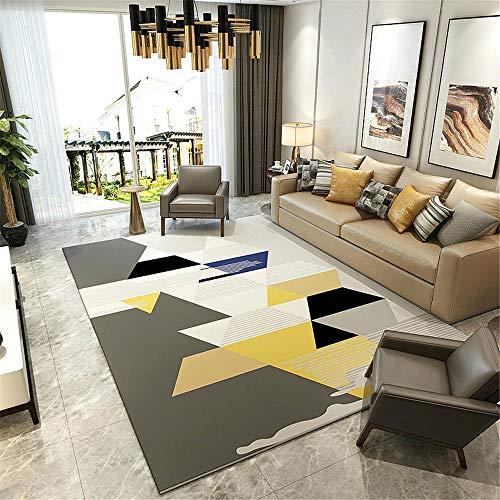 TEPPICH-CY-ZK tapijt luxe bank tapijt grijs geel zwart geometrisch patroon moderne woonkamer slaapkamer tapijt gemakkelijk te verzorgen perfecte tapijten