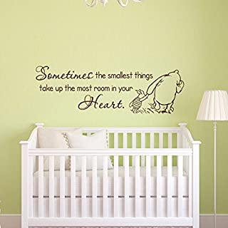 Sold by A Good Decals USA Classic Winnie The Pooh and Piglet Sometimes The Smallest Things Take Up The Most Room In Your Heart Wall Decal