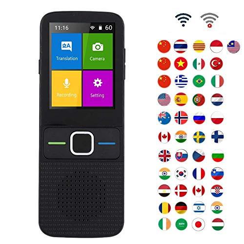 Intelligenter Übersetzungsgerät Gerät, Smart Sprachübersetzer 137 SprachenZwei-Wege-Echtzeit WiFi/Offline-Sofortübersetzung, Pocket Voice/Text/Aufnahme/Foto-Übersetzer-Gerät für Reisen