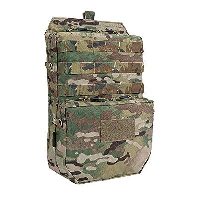 EXCELLENT ELITE SPANKER Tactical MOLLE Hydration Pack for 3L Hydration Water Bladder Molle Vest Accessory(Multicam)