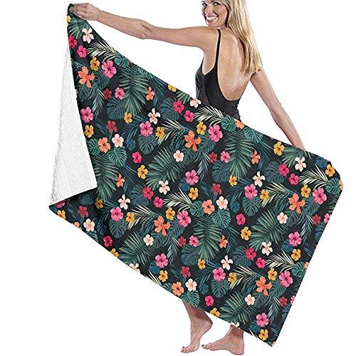 dingjiakemao Türkisches Handtuch Blumen-Palmblatt-Muster-Badetücher Superweiche 80X130Cm Bett-Badewanne Verwendbar Für Das Kampieren, Turnhalle, Yoga
